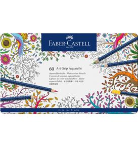 Faber-Castell - Watercolour pencil Art Grip Aquarelle tin of 60