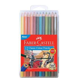 Faber-Castell - Classic colour pencils, slim-flexi case of 12