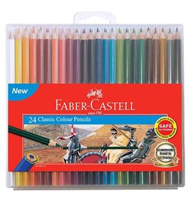 Faber-Castell - Classic colour pencils, slim-flexi case of 24