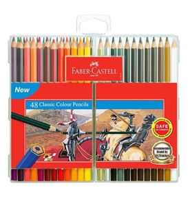 Faber-Castell - Classic colour pencils, slim-flexi case of 48
