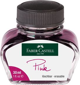 Faber-Castell - Ink bottle, 30 ml, ink pink erasable