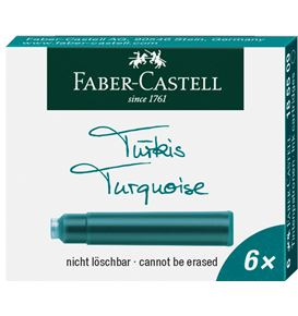 Faber-Castell - Ink cartridge standard turquoise box of 6