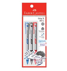 Faber-Castell - Ballpoint pen Grip X5 0.5mm, blistercard of 3