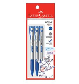 Faber-Castell - Ball pen Grip X7 0.7 blue 3x