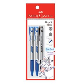 Faber-Castell - Ballpoint pen Grip X7 0.7mm, blistercard of 3