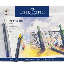Faber-Castell - Goldfaber colour pencil, tin of 24