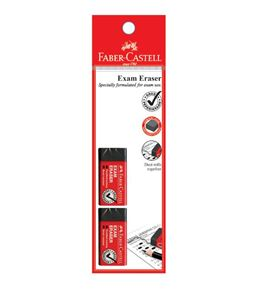 Faber-Castell - Eraser Dust-free Exam Grade, black, blistercard of 2