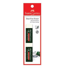 Faber-Castell - Eraser Dust-free with sleeve 7085-20, blistercard of 2
