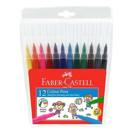 Faber-Castell - Fibre tip colour pen 12 colours