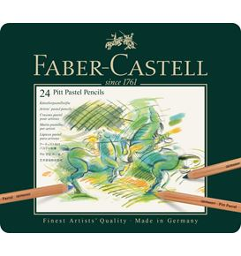 Faber-Castell - Colour pencil Pitt Pastel tin of 24