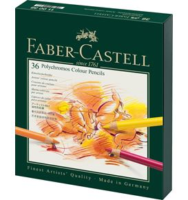 Faber-Castell - Polychromos colour pencil, studio box of 36