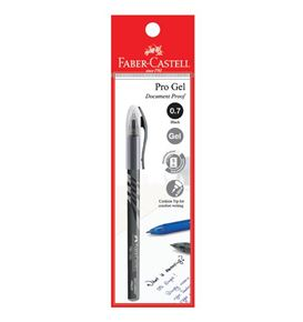 Faber-Castell - Gel pen Pro Gel, 0.7mm, black, blistercard of 1