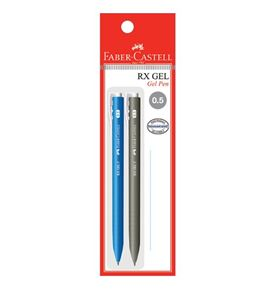 Faber-Castell - Gel pen RX Gel, 0.5mm, blistercard of 2
