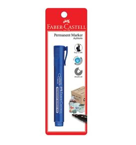 Faber-Castell - Marker Permanent P20, blue, blistercard of 1