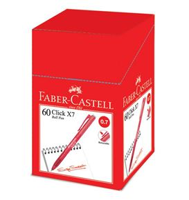 Faber-Castell - Ballpoint pen Click X7 0.7mm, red
