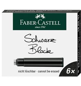 Faber-Castell - Ink cartridge standard black, box of 6