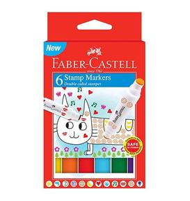 Faber-Castell - Stamp Markers, carboard wallet of 6