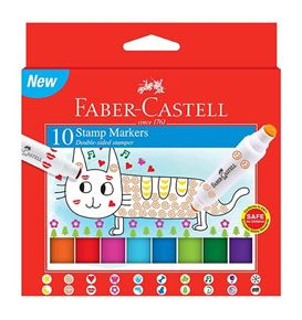 Faber-Castell - Stamp Markers, carboard wallet of 10