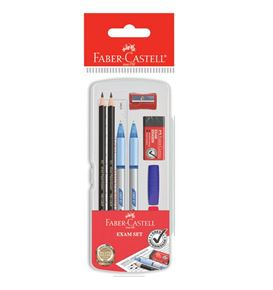 Faber-Castell - Graphite pencil Tri-Grip Exam Set, clear box