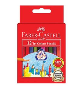 Faber-Castell - 12 Tri Colour Colour Pencils, short