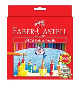 Faber-Castell - 24 Tri Colour Colour Pencils