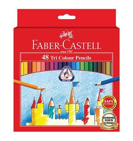 Faber-Castell - Colour pencil Tri Colour, carboard wallet of 48