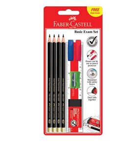 Faber-Castell - Graphite pencil Tri-Grip 2B, Exam Set