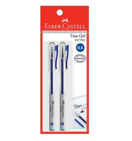 Faber-Castell - Gel pen True Gel 0.5 blue 2x