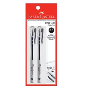 Faber-Castell - Gel pen True Gel, 0.5mm, black, blistercard of 2