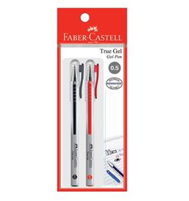 Faber-Castell - Gel pen True Gel 0.5 black/red 2x