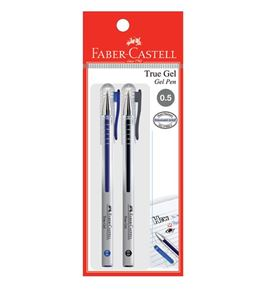 Faber-Castell - Gel pen True Gel 0.5 black/blue 2x