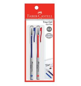 Faber-Castell - Gel pen True Gel 0.5 blue/red 2x