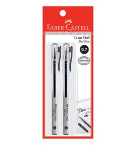 Faber-Castell - Gel pen True Gel 0.7 black 2x