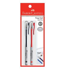 Faber-Castell - Gel pen True Gel 0.7 black/red 2x