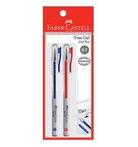 Faber-Castell - Gel pen True Gel, 0.7mm, blistercard of 2