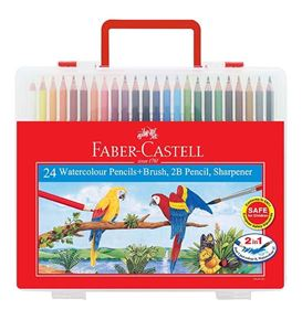 Faber-Castell - Watercolour pencils 24L in wonder box